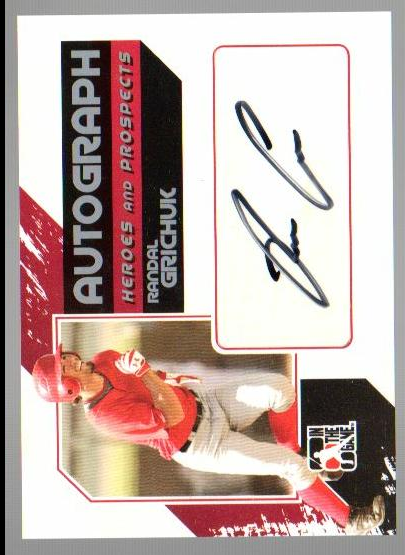 2011 ITG Heroes and Prospects Full Body Autographs Silver #RG Randal Grichuk S2