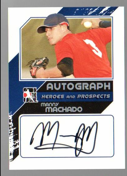 2011 ITG Heroes and Prospects Close Up Autographs Silver #MMA2 Manny Machado S2