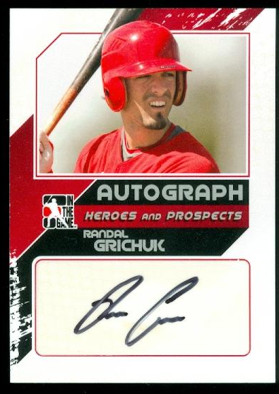 2011 ITG Heroes and Prospects Close Up Autographs Silver #RG2 Randel Grichuk S2