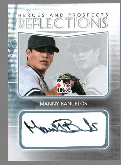 2011 ITG Heroes and Prospects Reflections Autographs Silver #MB Manny Banuelos S2