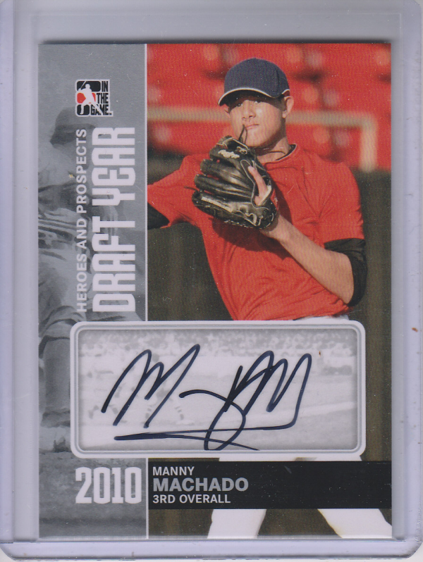 2011 ITG Heroes and Prospects Draft Year Autographs Silver #MMA Manny Machado S2