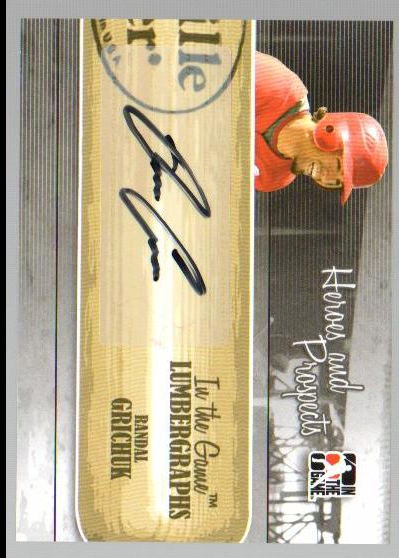 2011 ITG Heroes and Prospects Lumbergraphs Autographs #RC Randal Grichuk S2