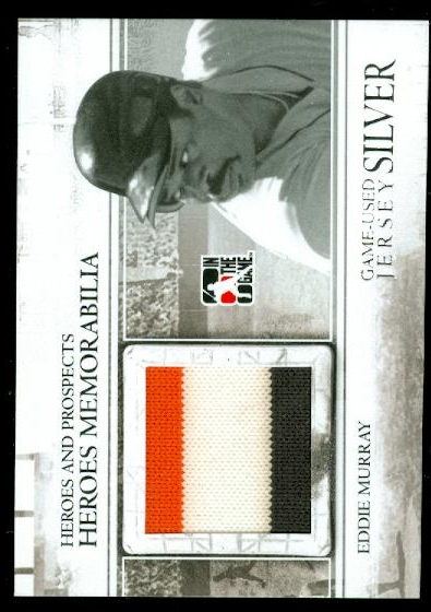 2011 ITG Heroes and Prospects Heroes Jerseys Silver #24 Eddie Murray S2