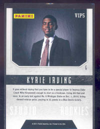 2011 Panini National Convention VIP #VIP5 Kyrie Irving back image