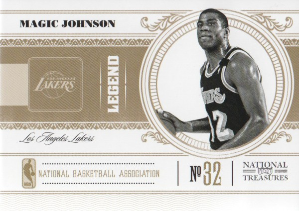 2010-11 Playoff National Treasures #125 Magic Johnson