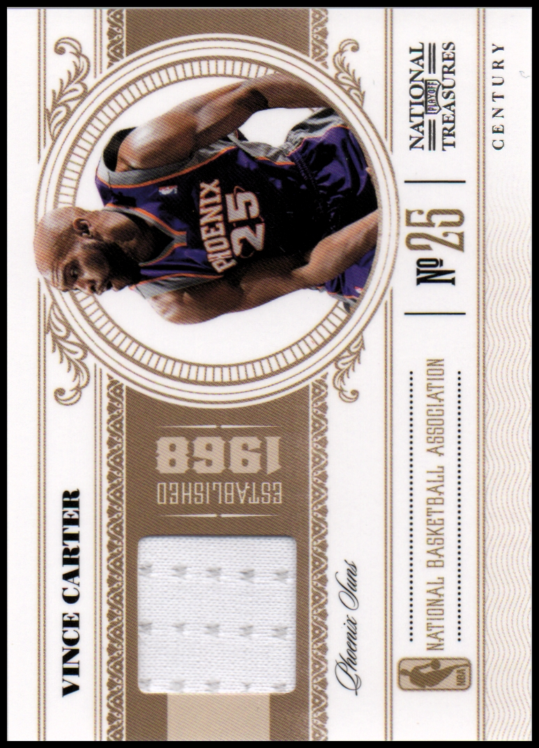 2010-11 Playoff National Treasures Century Materials #81 Vince Carter/99