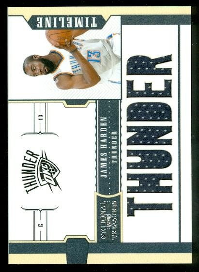 2010-11 Playoff National Treasures Timeline Materials Custom Team Nicknames #18 James Harden/99