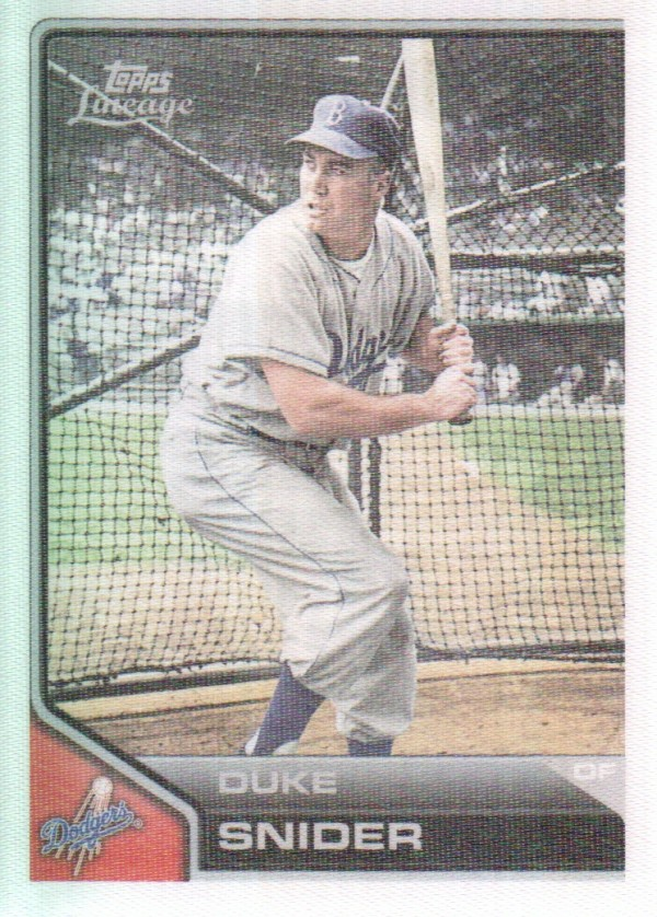 2011 Topps Lineage Cloth Stickers #TCS17 Duke Snider