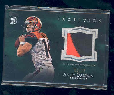 2011 Topps Inception Rookie Relics Jumbo Swatch Green #JRAD Andy Dalton