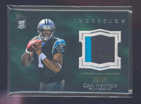 2011 Topps Inception Rookie Relics Patch Green #RPCN Cam Newton