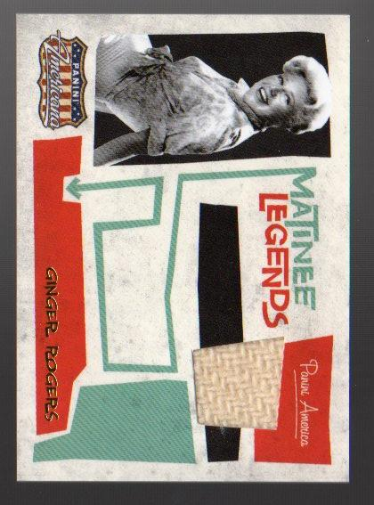 2011 Americana Matinee Legends Material #7 Ginger Rogers