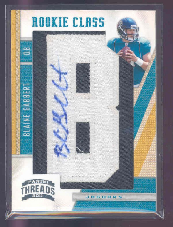 2011 Panini Threads #254 Blaine Gabbert AU/350 RC