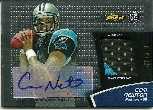 2011 Finest Rookie Patch Autographs #RAPCN Cam Newton/100