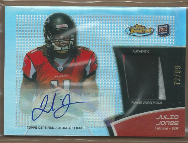 2011 Finest Rookie Patch Autographs Refractors #RAPJJ Julio Jones