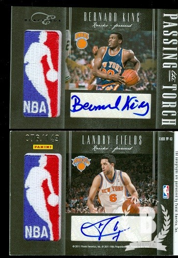 2010-11 Elite Black Box Passing the Torch Signatures #43 Bernard King/149/Landry Fields