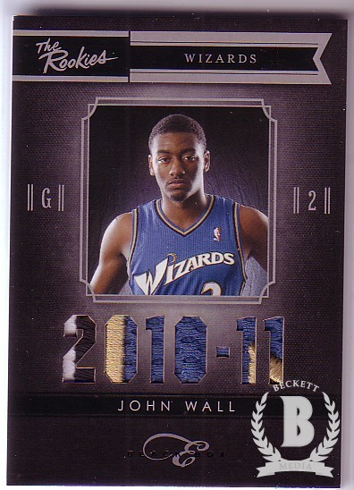 2010-11 Elite Black Box The Rookies Materials Prime #1 John Wall/99