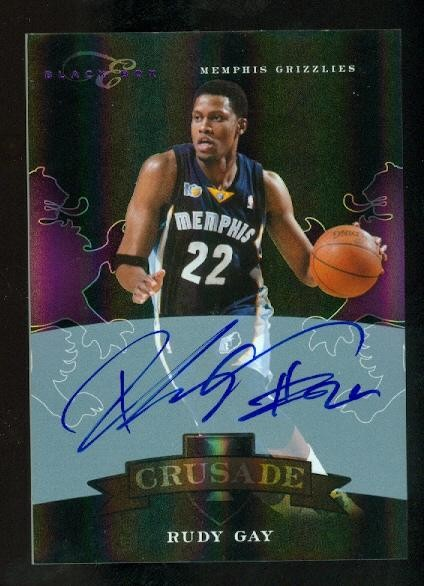 2010-11 Elite Black Box Crusade Signatures #22 Rudy Gay/49