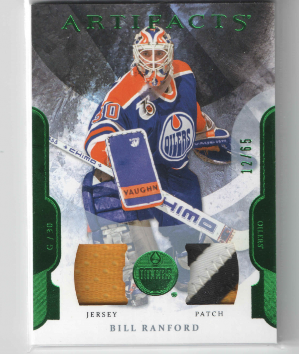 2011-12 Artifacts Jerseys Patch Emerald #93 Bill Ranford