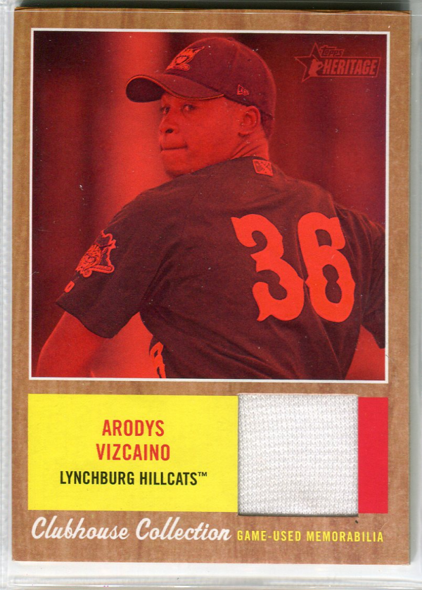 2011 Topps Heritage Minors Clubhouse Collection Relics Red Tint #AV Arodys Vizcaino
