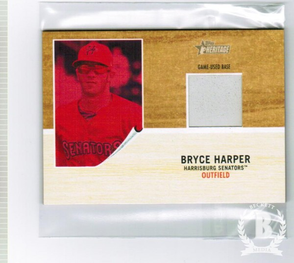 2011 Topps Heritage Minors Bryce Harper Game Used Base Red Tint #BH Bryce Harper