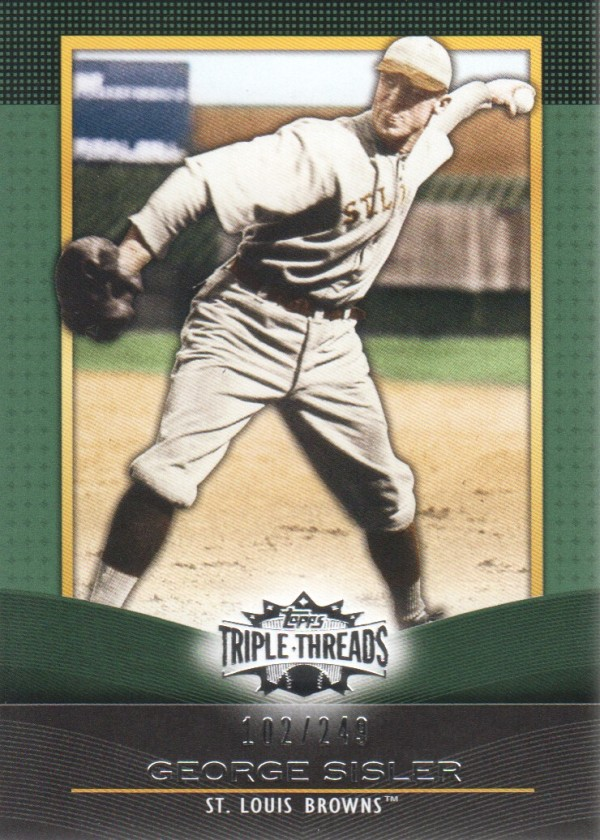 2011 Topps Triple Threads Emerald #69 George Sisler