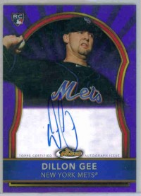 2011 Finest Rookie Autographs Purple Refractors #79 Dillon Gee
