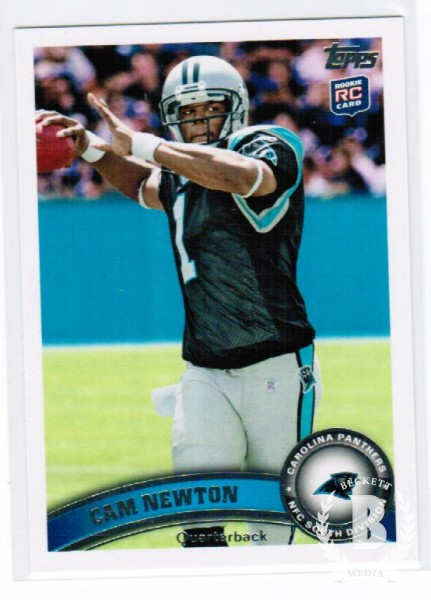 2011 Topps #200C Cam Newton FS/(stands in background/blue wall, factory set only)