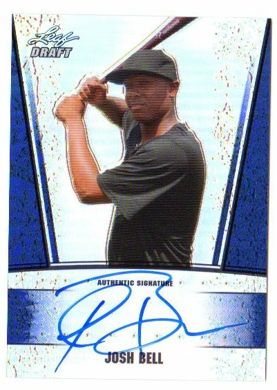 2011 Leaf Metal Draft Prismatic Blue #JB4 Josh Bell