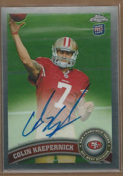 2011 Topps Chrome Rookie Autographs #25 Colin Kaepernick A