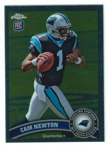 2011 Topps Chrome #1B Cam Newton SP/(football at chest)