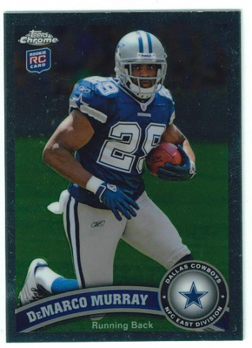 2011 Topps Chrome #173B DeMarco Murray SP/(football in left arm)