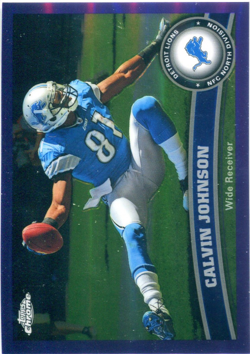 2011 Topps Chrome Purple Refractors #8 Calvin Johnson