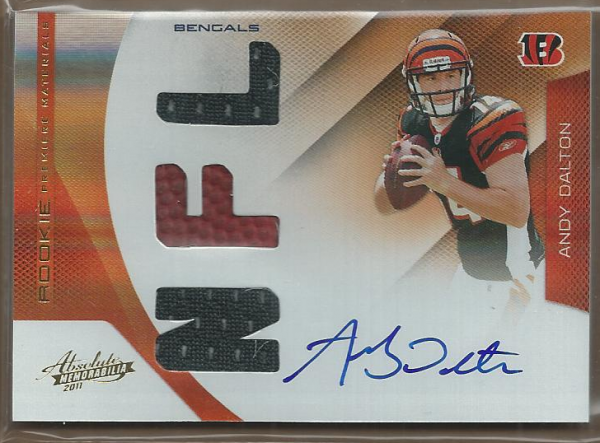 2011 Absolute Memorabilia #201 Andy Dalton RPM AU/299 RC