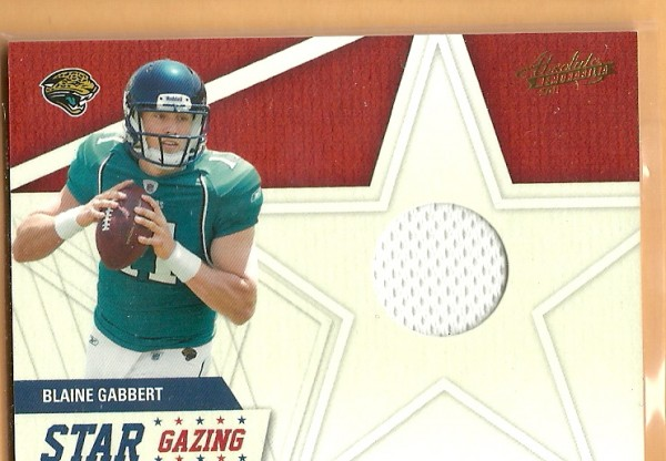 2011 Absolute Memorabilia Star Gazing Materials #6 Blaine Gabbert