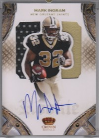 2011 Crown Royale #217 Mark Ingram JSY AU/199 RC front image