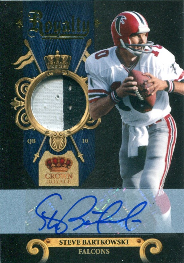 2011 Crown Royale Royalty Materials Autographs Prime #8 Steve Bartkowski/10