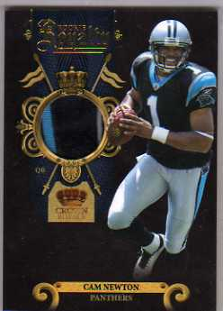 2011 Crown Royale Rookie Royalty Materials Prime #27 Cam Newton