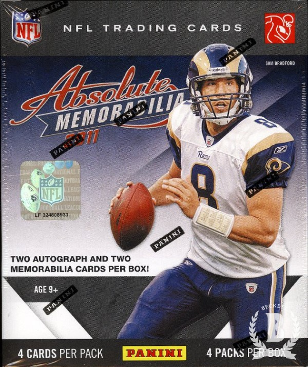 2011 Absolute Memorabilia Football Hobby Box