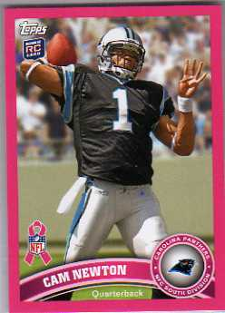 2011 Breast Cancer Awareness #17 Cam Newton T