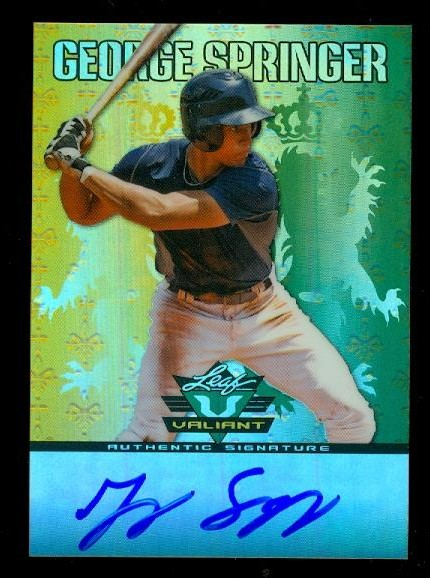 2011 Leaf Valiant Draft #GS1 George Springer