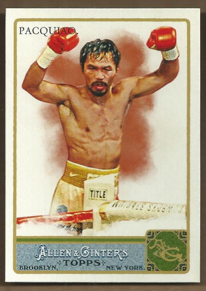 2011 Topps Allen and Ginter Glossy #262 Manny Pacquiao