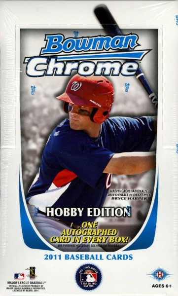 2011 Bowman Chrome Baseball Hobby Box