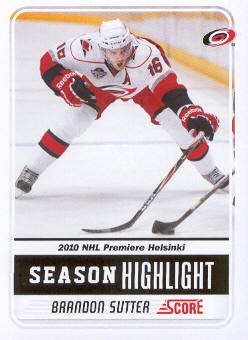 2011-12 Score #3 Brandon Sutter SH