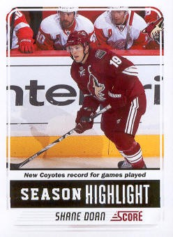 2011-12 Score #20 Shane Doan SH