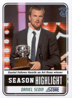 2011-12 Score #28 Daniel Sedin SH