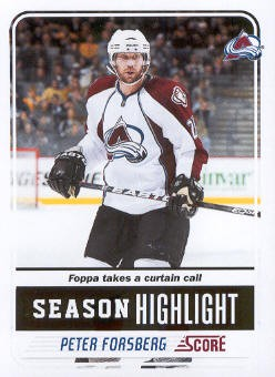 2011-12 Score #33 Peter Forsberg SH