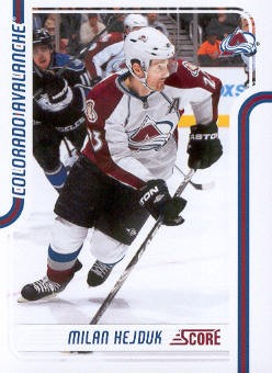 2011-12 Score #129 Milan Hejduk