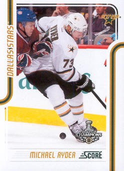 2011-12 Score #164 Michael Ryder
