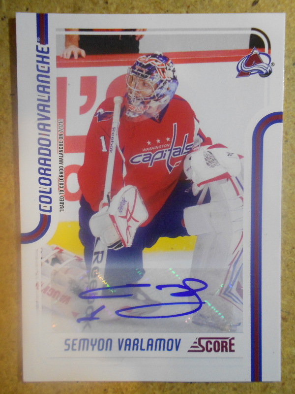 2011-12 Score Signatures #139 Semyon Varlamov