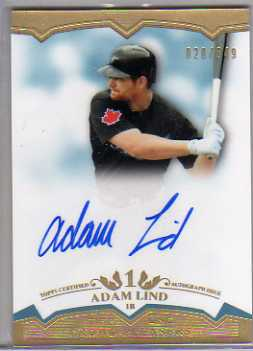 2011 Topps Tier One Crowd Pleaser Autographs #AL Adam Lind/649